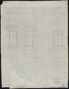 California Palace of the Legion of Honor: Jointing on Rear Elevation, thirty-second from a group of seventy architectural study drawings