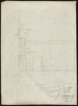 California Palace of the Legion of Honor: Section through Galleries #9 and #11, thirty-third from a group of seventy architectural study drawings