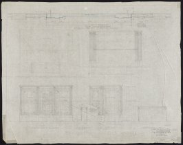 California Palace of the Legion of Honor: Organ Console, thirty-fourth from a group of seventy architectural study drawings