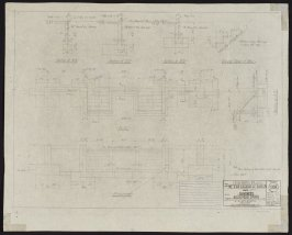 California Palace of the Legion of Honor: Receiving Stair, forty-second from a group of seventy architectural study drawings