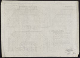 California Palace of the Legion of Honor: Dome over Vestibule, fifty-fourth from a group of seventy architectural study drawings
