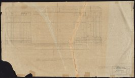 California Palace of the Legion of Honor: Auditorium Cross Section, sixty-second from a group of seventy architectural study drawings