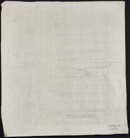 California Palace of the Legion of Honor: Stage-Showing I-Beams for Sheers, seventieth from a group of seventy architectural study drawings
