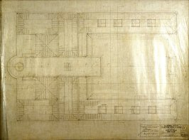 California Palace of the Legion of Honor: Roof Plan, fifth from a group of nineteen presentation drawings