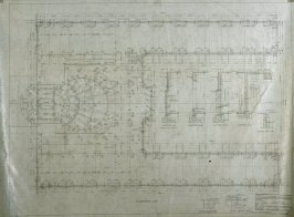 California Palace of the Legion of Honor: Foundation Plan, eleventh from a group of nineteen presentation drawings