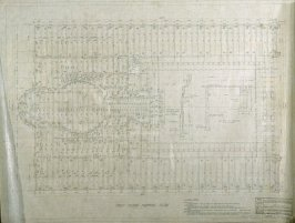 California Palace of the Legion of Honor: First Floor Framing Plan, twelfth from a group of nineteen presentation drawings