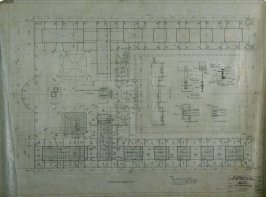 California Palace of the Legion of Honor: Concrete Attic Floor Framing Plan, fourteenth from a group of nineteen presentation drawings