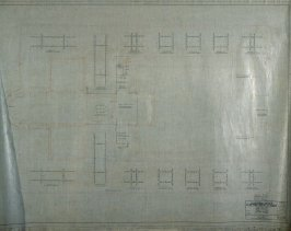California Palace of the Legion of Honor: Electrical: Attic Floor, seventeenth from a group of nineteen presentation drawings