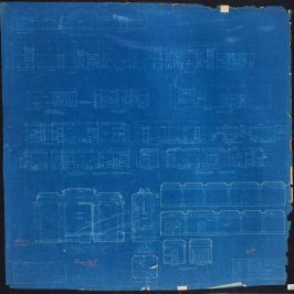A. B. Spreckels Residence, Washington and Octavia Streets: Interior Details, ninth from a group of eleven architectural blueprints