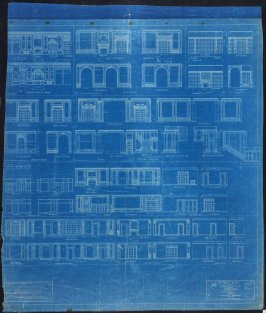 A. B. Spreckels Residence, Washington and Octavia Streets: Interior Details, tenth from a group of eleven architectural blueprints