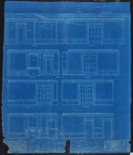 A. B. Spreckels Residence, Washington and Octavia Streets: Interior Details- Mr. and Mrs. A.B. S. Bedrooms, eleventh from a group of eleven architectural blueprints