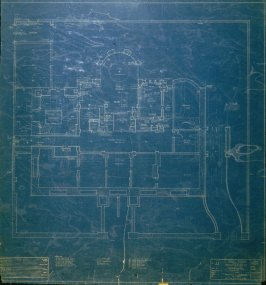 A. B. Spreckels Residence, Washington and Octavia Streets: Sub-Basement Plan, first from a group of eleven architectural blueprints
