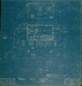 A. B. Spreckels Residence, Washington and Octavia Streets: Attic and Roof Plan, fifth from a group of eleven architectural blueprints