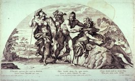 Perseus Beheading Medusa, after Annibale Carracci from the series Galeriae Farnesianae Icones Romae...