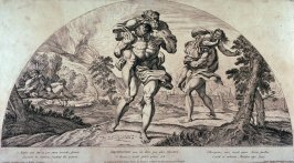 Amphimomus and Anapus, after Annibale Carracci from the series Galeriae Farnesianae Icones Romae...