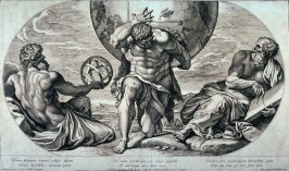 Atlantus, after Annibale Carracci from the series Galeriae Farnesianae Icones Romae...