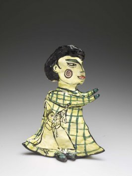 Single Figure in Green Dress(Hearts.Head- work-not easily controlled; The Nature of Cheese and Castles)