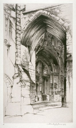 French Lace, also called The West Portal of the Church of Notre Dame, Villefranche-en-Rouerque, Aveyron
