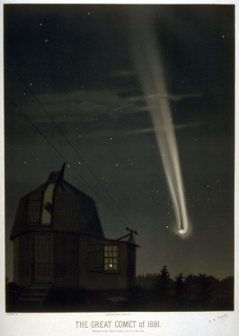 The Great Comet of June, 1881, pl. XI from a portfolio of astronomical observations