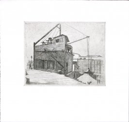 Untitled (Building Site under Construction with Crane)