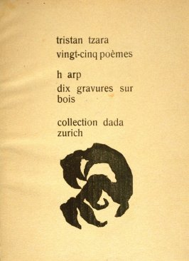 Frontispiece in the book Vingt-Cinq poemes by Tristan Tzara (Zurich: Collection Dada, 1918)
