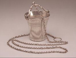 Water dipper with handle and chain