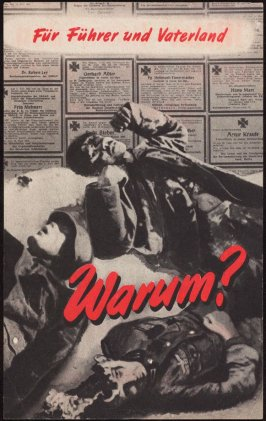 """Fur Fuhrer und Vaterland: Warum?"" (For Leader and Fatherland: Why?), British propaganda leaflet targeting Germany and occupied areas"