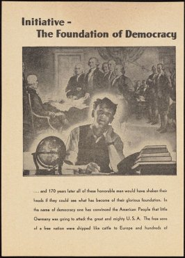 """""""Initiative-The Foundation of Democracy,"""" German propaganda leaflet targeting Allied troops during the Battle of the Bulge"""