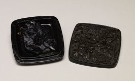 Dried Ink (Carved Black Lacquer Container)