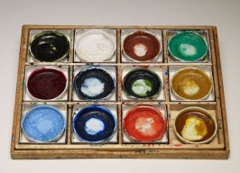 Box with Paint Pots
