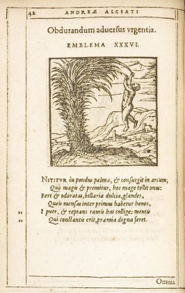 In adulari nescientem (Unable to flatter.), emblem 35 in the book Emblemata by Andrea Alciato (Antwerp: Plantin [under the direction] of Raphelengius, 1608)