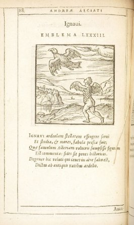 Ignavi (Good for nothing), emblem 83 in the book Emblemata by Andrea Alciato (Antwerp: Plantin [under the direction] of Raphelengius, 1608)