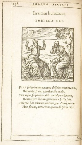 AEre quandoque salutem redimendam (Sometimes money must be spent to purchase safety), emblem 152 in the book Emblemata by Andrea Alciato (Antwerp: Plantin [under the direction] of Raphelengius, 1608)