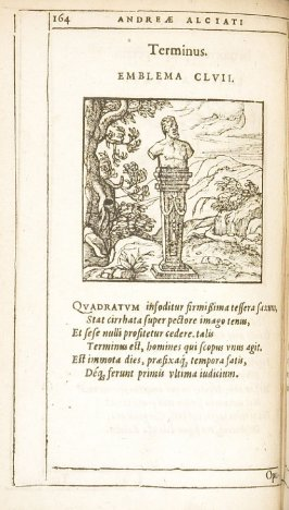 Opulenti hereditas (The rich man's legacy), emblem 158 in the book Emblemata by Andrea Alciato (Antwerp: Plantin [under the direction] of Raphelengius, 1608)