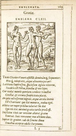 Auxilium nunquam deficiens (Help never failing), emblem 161 in the book Emblemata by Andrea Alciato (Antwerp: Plantin [under the direction] of Raphelengius, 1608)