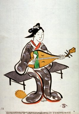 No.13, Fox woman playing a lute