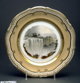 Plate (The Genesee Falls, Rochester, America)