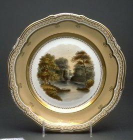Plate (Popes Temple, Hagley Park, Worcestershire)