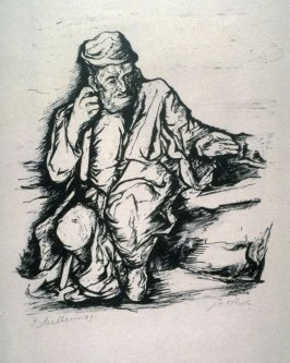 Oriental Figure (Old Man with Cane)