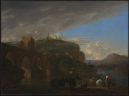 View of the Ponte Molle, Rome
