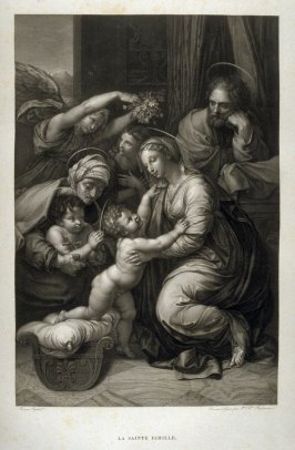 La Sainte Famille (The Holy Family), first plate in the book, Le Musée royal (Paris: P. Didot, l'ainé, 1818), vol. 2