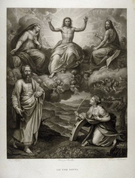 Les Cinq Saints (The Five Saints)...second plate in the book... Le Musée royal (Paris: P. Didot, l'ainé, 1818), vol. 2