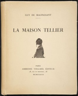 Vignette on paper cover of the book La maison Tellier by Guy de Maupassant (Paris: Ambroise Vollard, 1934)