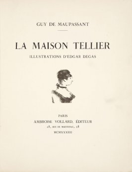 Title page vignette in the book La maison Tellier by Guy de Maupassant (Paris: Ambroise Vollard, 1934)