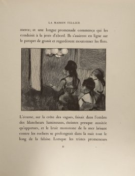 Illustration for chapter 1, on page 11 in the book La maison Tellier by Guy de Maupassant (Paris: Ambroise Vollard, 1934)
