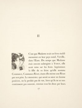 Vignette for the begiining of chapter 2, on page 17 in the book La maison Tellier by Guy de Maupassant (Paris: Ambroise Vollard, 1934)