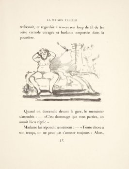 Illustration in the text for chapter 2, on page 53 in the book La maison Tellier by Guy de Maupassant (Paris: Ambroise Vollard, 1934)