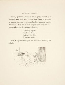 End piece vignette for chapter 2 on unnumbered page 55 in the book La maison Tellier by Guy de Maupassant (Paris: Ambroise Vollard, 1934)