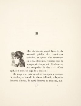 Vignette at the beginning of chapter 3, on page 57 in the book La maison Tellier by Guy de Maupassant (Paris: Ambroise Vollard, 1934)