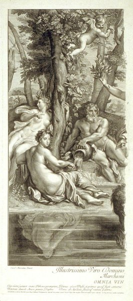 Daphne and Apollo - Plate I of II (left half of image)